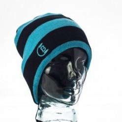 CozyB-Black-and-Aqua-Striped-Beanie-Headphone