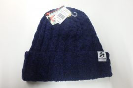 Cable Lined Beanie Navy