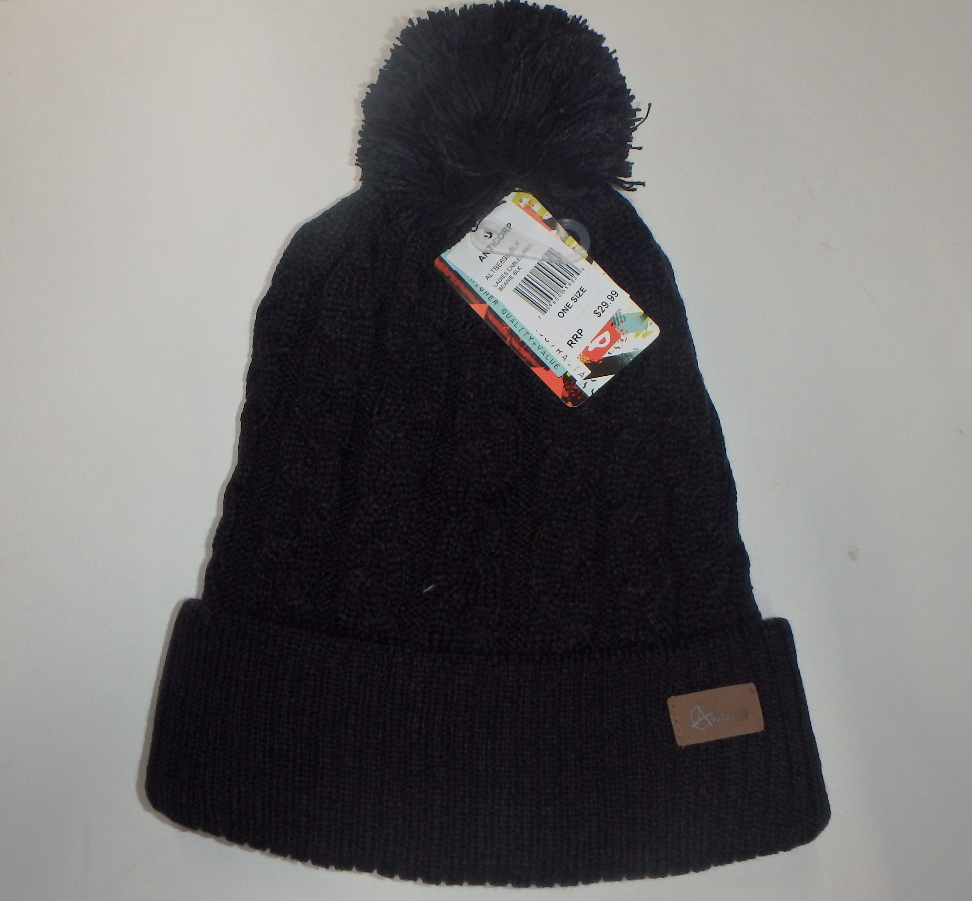4025f859556 Anticorp Beanie Womens Cable Lined