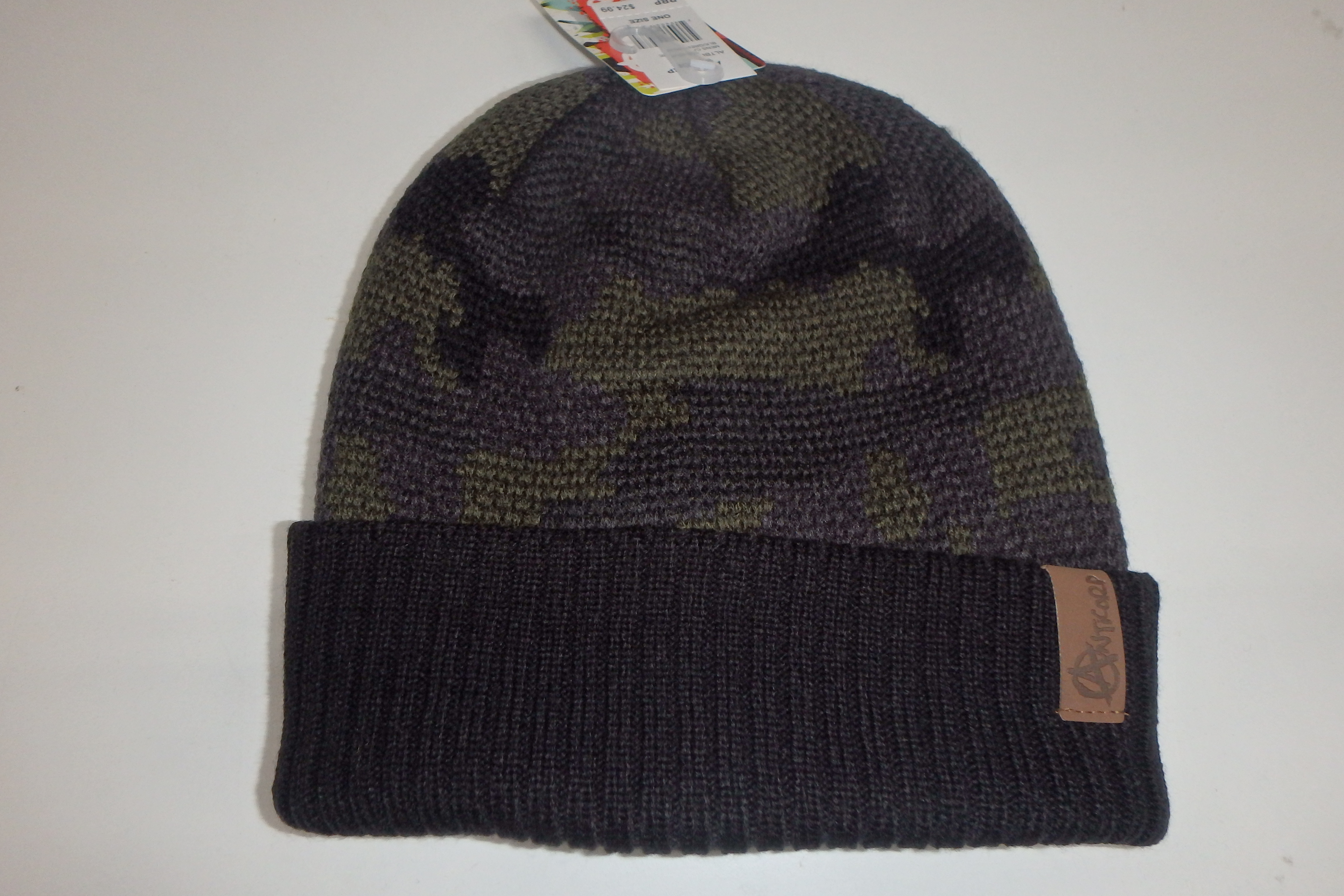 f1d61bc872bc2 Anticorp Camo Lined Beanie Black Green